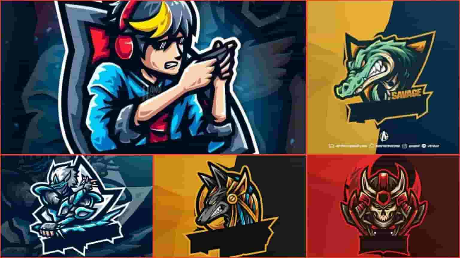 top 5 gaming mascot logo no text